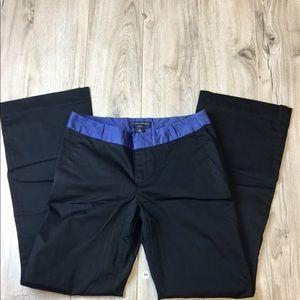 Banana Republic Black/Blue Pants Size 6 (B-99)